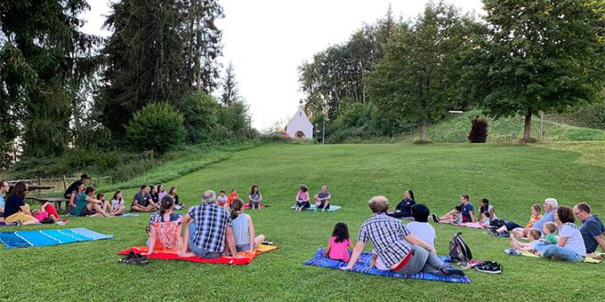 Familientagung im Schönstattzentrum Memhölz unter Corona-Bedingungen (Foto: Kirschner)