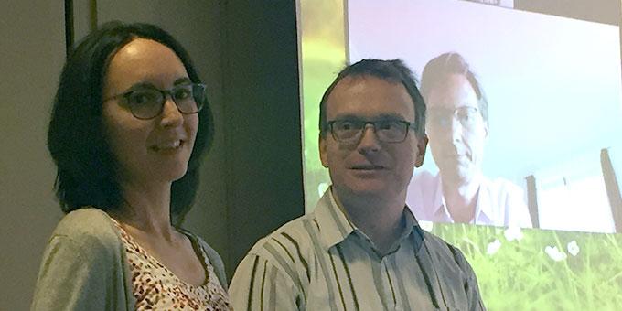 Vom neuen Leitungsteam ebenfalls vor Ort anwesend waren Elisabeth und Mathias Rohrbeck (Foto: Brehm)