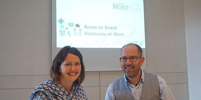 Tolle Wortmacher: Kathrin Karban-Völkl und Thomas Völk (Foto: Fella)