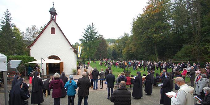 Feier der Erneuerung des Liebesbündnisses am 18. Oktober 2020 am Urheiligtum in Schönstatt, Vallendar (Foto: Brehm)