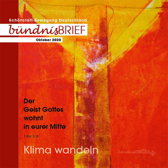 Cover des Bündnisbriefes ab Oktober 2020 (Gestaltung: POS, Brehm; Grafik: Maria Kiess)
