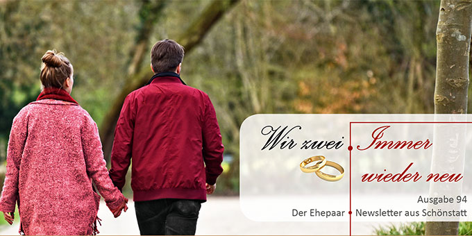 """Ehepaar-Newsletter 10/2020 """"Wir zwei - Immer wieder neu"""" (Foto: Mabel Amber, pixabay.com)"""
