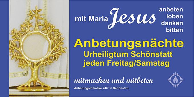 Wöchentliche Nachtanbetung in Schönstatt, Vallendar (Foto: Anbetungsinitiative)