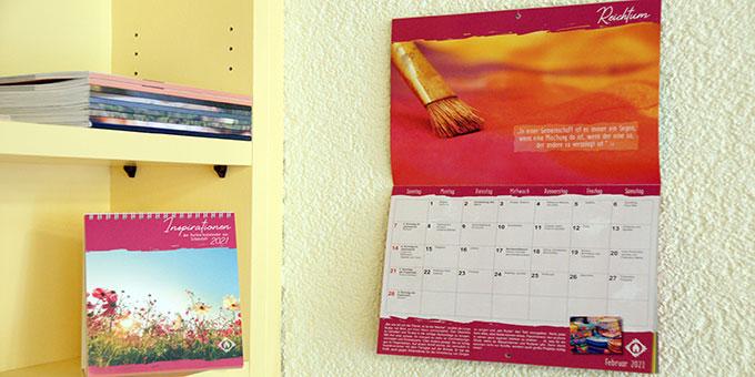 Der neue Schönstatt-Kalender 2021 ist auf dem Markt (Foto: A. Brand)
