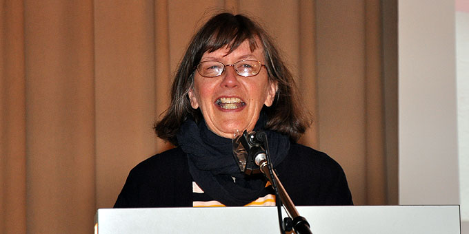 """""""Referieren"""" ist der Part von Claudia Brehm, Vallendar-Schönstatt, als Tag-der-Frau-Referentin (Foto: Baumann)"""