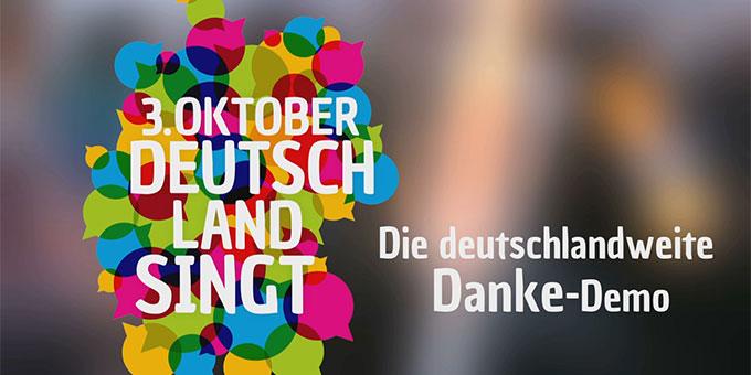 Deutschland singt - Logo und Motto (Foto: 3oktober.org)
