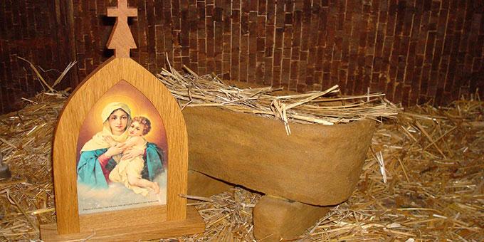 Herbergssuche mit dem Bild der pilgernden Gottesmutter (Foto: Projekt Pilgerheiligtum)