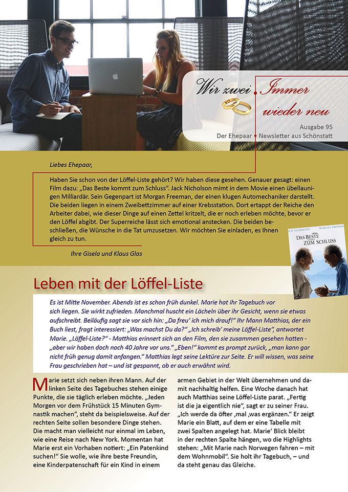 """Ehepaar-Newsletter 11/2020 """"Wir zwei - Immer wieder neu"""" (Foto: pixabay.com)"""