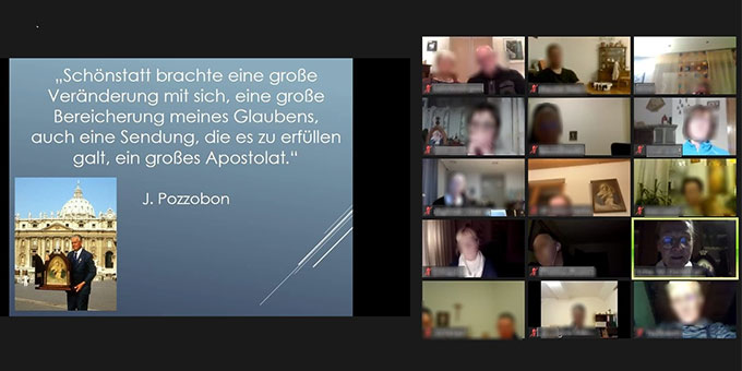 Pozzobon-Abend online (Foto: Bildschirmmittschnitt)