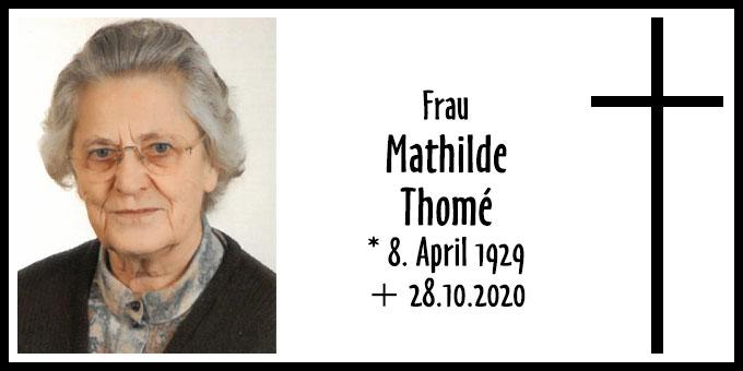 Todesanzeige Mathilde Thomé (Foto: Schönstatt Frauenbund)