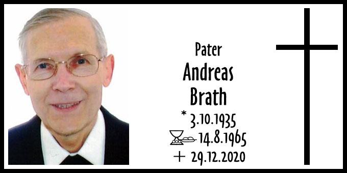 Todesanzeige Pater Andreas Brath ISch (Foto: ISch)