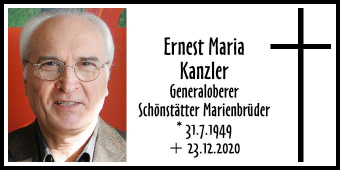 Todesanzeige Ernest Maria Kanzler (Foto: Schönstätter Marienbrüder)