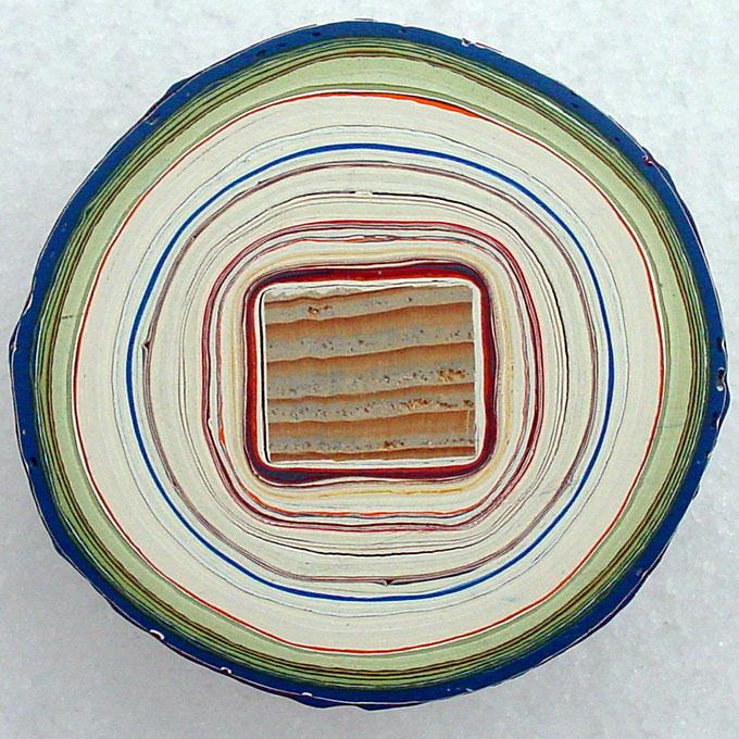 Querschnitt des Farbrührstabes von Markus Amrein (Foto: Amrein)