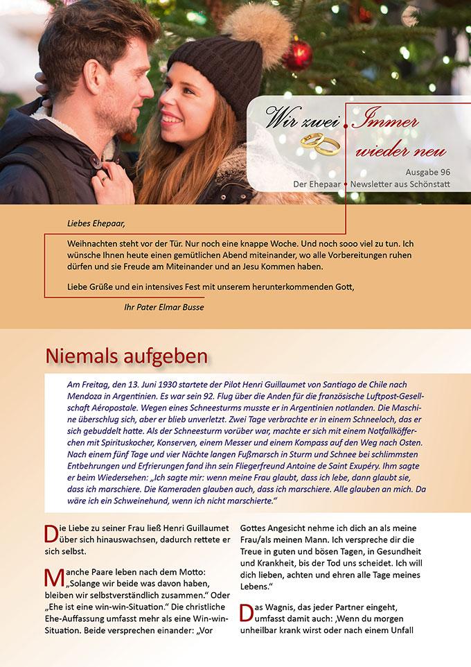 """Ehepaar-Newsletter 12/2020 """"Wir zwei - Immer wieder neu"""" (Foto: pixabay.com)"""