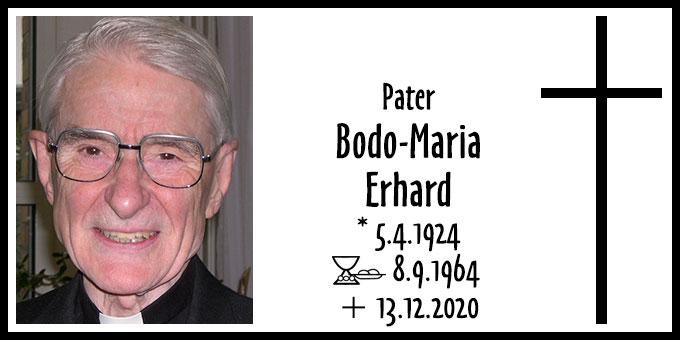 Todesanzeige: Pater Bodo-Maria Erhard (Foto: Brehm)