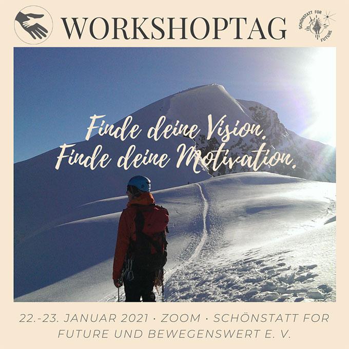 Einladung zum Workshoptag (Gestaltung: Antonia)