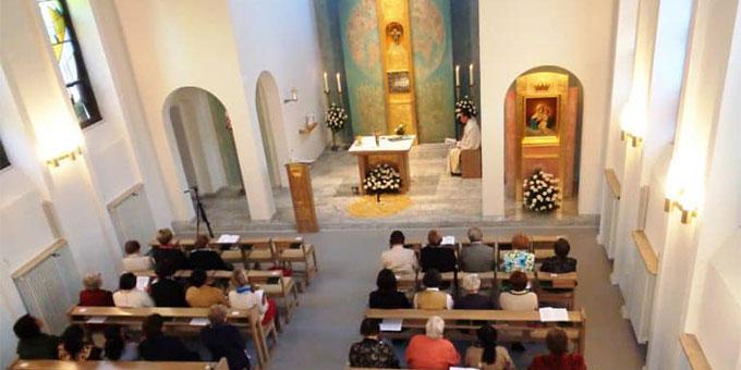 """Hauskapelle im """"Mutterhaus"""" der Gemeinschaft """"Frauen von Schönstatt"""": Haus Regina, Vallendar (Foto: Hanna Grabowska)"""