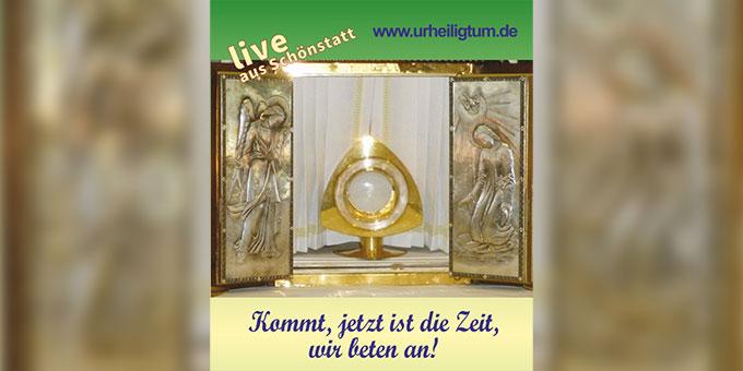 Gestaltete Anbetungszeit im Urheiligtum, Schönstatt, Vallendar (Foto: urheiligtum.de)