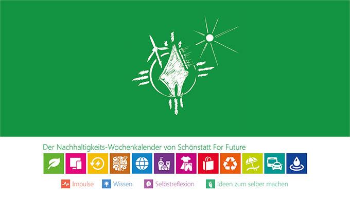 Deckblatt des neuen Nachhaltigkeits-Wochenkalenders von SchoenstattForFuture (Foto: SFF)