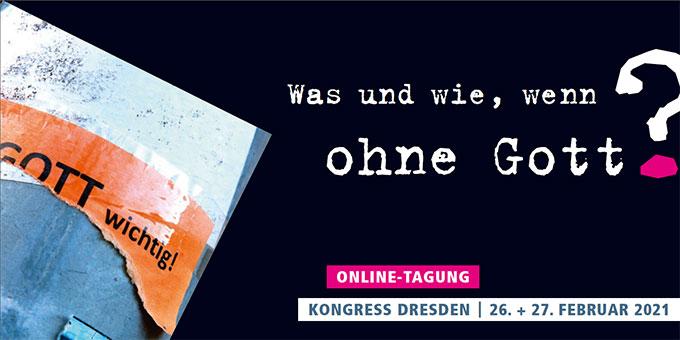 Online-Tagung - Was und wie, wenn ohne Gott? (Grafik: Flyer-Cover)
