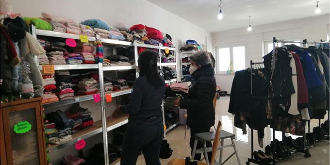 Kleiderkammer im Schönstatt-Zentrum Belmonte, Rom (Foto: Cervi)