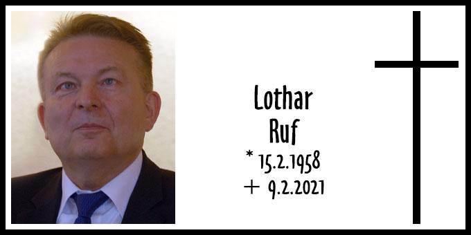 Todesanzeige: Lothar Ruf (Foto: Brehm)