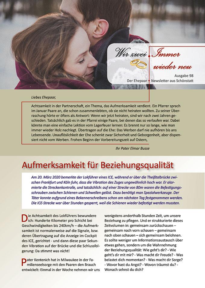 """Ehepaar-Newsletter 02/2021 """"Wir zwei - Immer wieder neu"""" (Foto: pixabay.com)"""