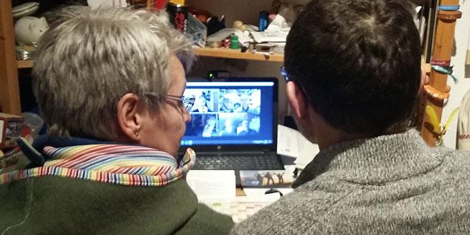 """Gemeinschaftstag am PC: """"Familienarbeit in Corona-Zeiten – online geht es auch!"""" (Foto: Imwalle)"""