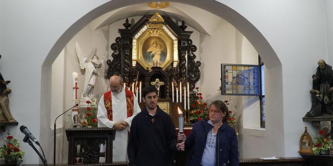 Bereits bei der Pfingstvigil 2020 wurde die Fackel zum Pfingstkongress entzündet und ausgesandt (Foto: IKS)