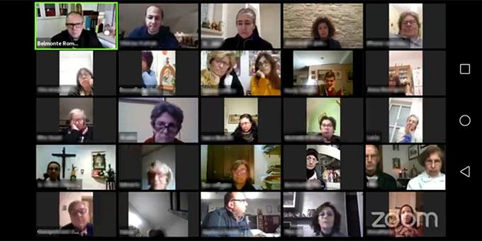 Zoom-Konferenz am Belmontetag (Foto: Cervi)