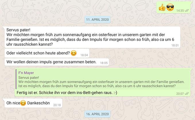 WhatsApp Posts von 2020 (Foto: Samietz)