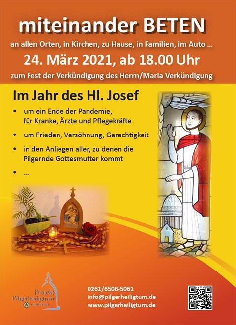 Cover Gebetsflyer (Foto:Projekt Pilgerheiligtum)