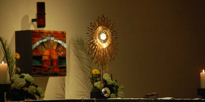 Höhepunkt und Abschluss der Feier war der eucharistische Segen (Foto: Brehm)