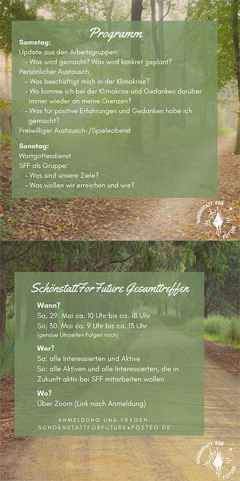Einladung Gesamttreffen SchönstattForFuture (Foto: SFF)