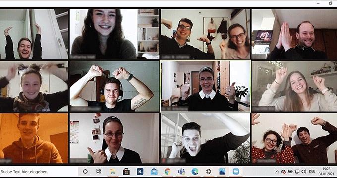 Kernteam der Nacht des Heiligtums (Bildschirmfoto)