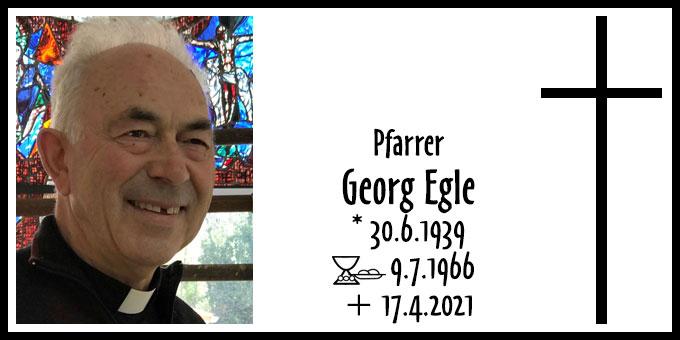 Todesanzeige Pfarrer Georg Egle (Foto: Christian Löhr)