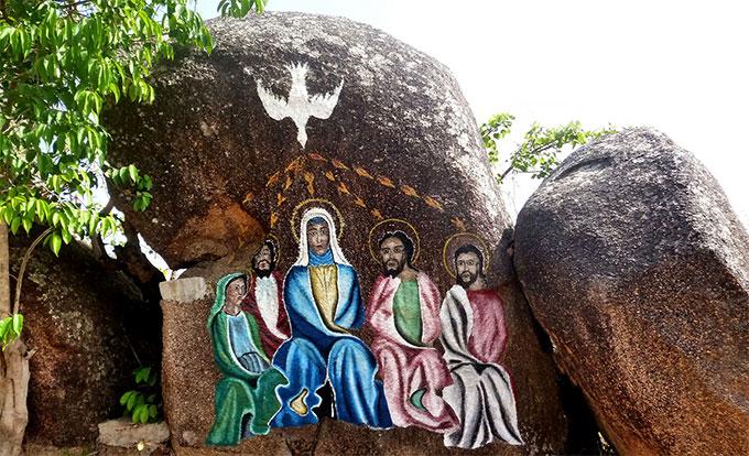 Station auf dem biblischen Marienweg des Wallfahrtszentrums Marza, Kamerun (Foto: Freundeskreis Marza)