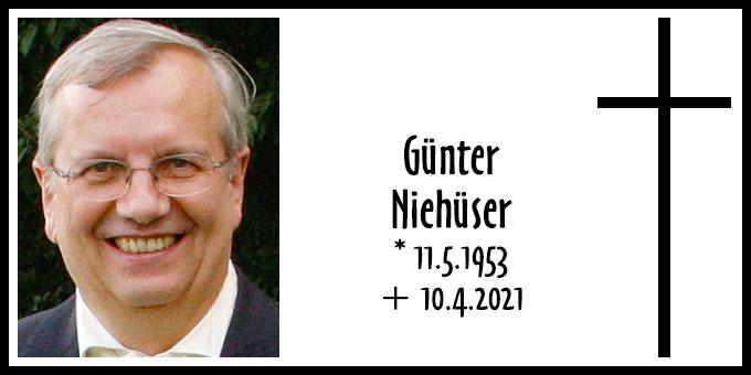 Todesanzeige Günther Niehüser (Foto: privat)