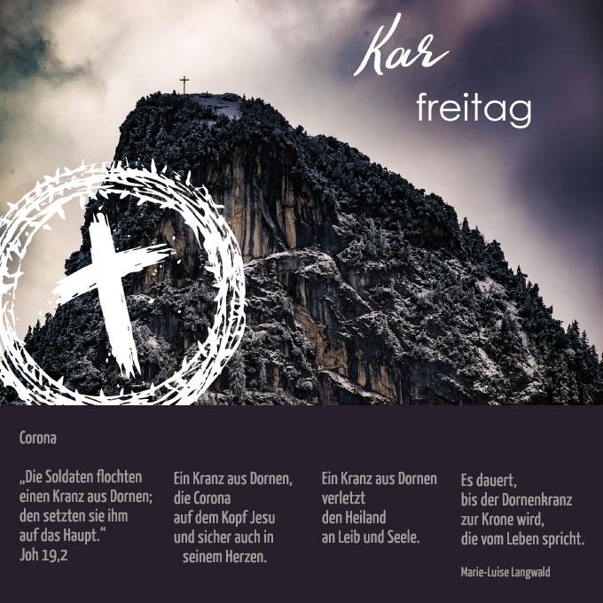 Karfreitag (Bildkarte: MehrRaum - eine Initiative junger Familien aus der Schönstatt-Familienbewegung; Text: Marie-Luise Langwald)