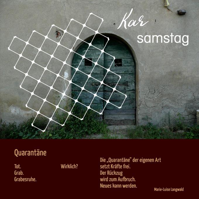 Karfreitag (Bildkarte: H.Brehm, nach einer Idee von MehrRaum; Text: Marie-Luise Langwald)