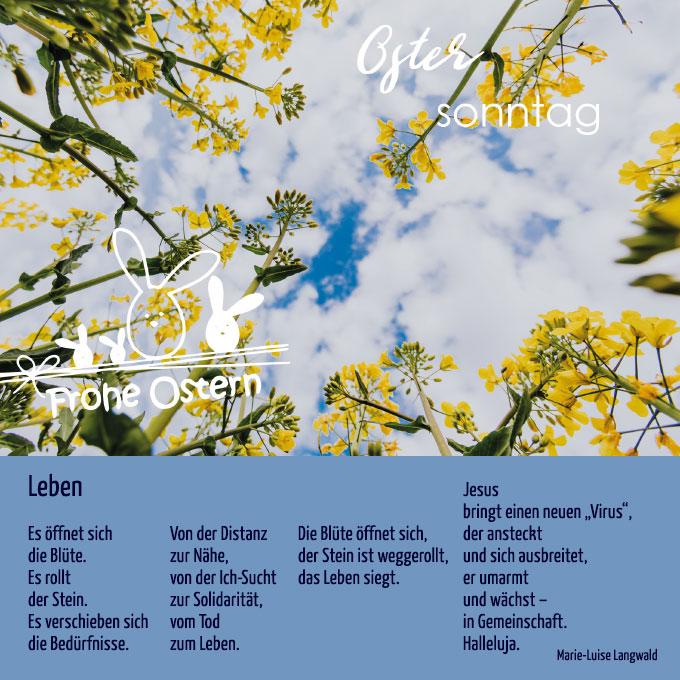 Ostern (Bildkarte: MehrRaum - eine Initiative junger Familien aus der Schönstatt-Familienbewegung; Text: Marie-Luise Langwald)