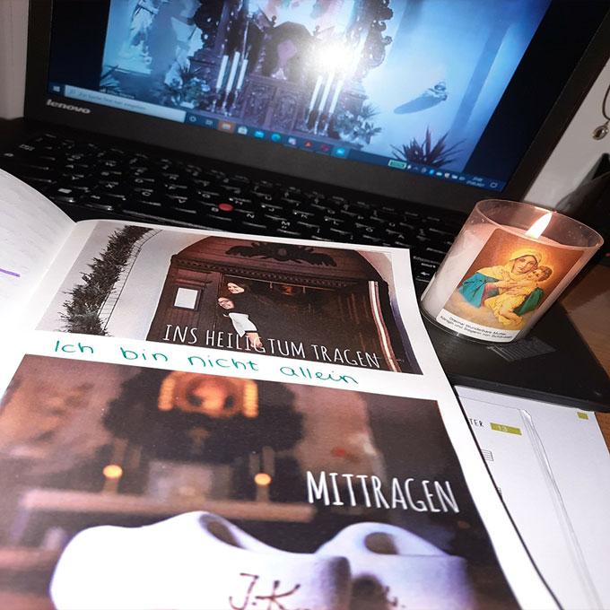 Ergebnisse festhalten in selbstgemachten Heften (Foto: MJFDeutschland)