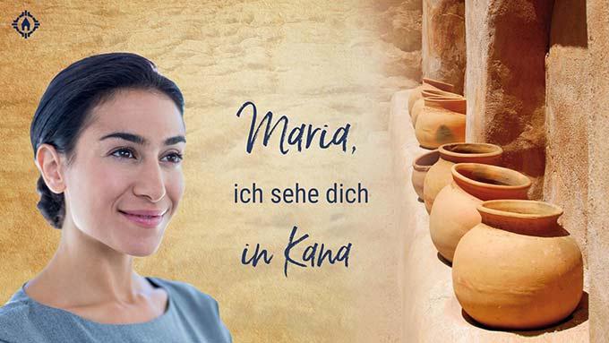 SonntagsGedanken im Mai: Maria in Kana (Layout: www.zeitschrift-begegnung.de)