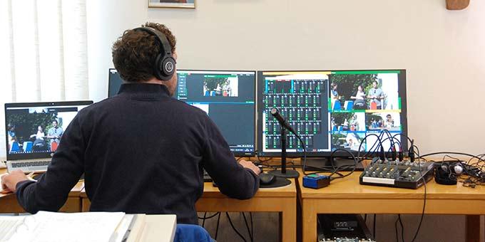 Professionelles Equipment und erfahrene Techniker sorgen für guten Ton und gute Bilder (Foto: Brehm)