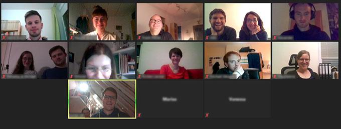Erstes JES-Online-Meeting im Mai 2020 (Foto: Bildschirmfoto)