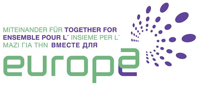 """Logo des Netzwerkes """"Miteinander für Europa"""" (Grafik: MfE)"""