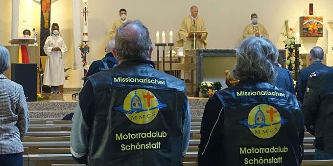 Einige Biker sind Mitglied im Missionarischen Motoradclub Schönstatt MMCS (Foto: Trieb)