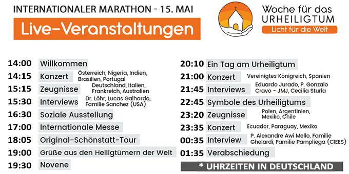 Live-Veranstaltungen am 15. Mai (Foto: schoenstatt.com)