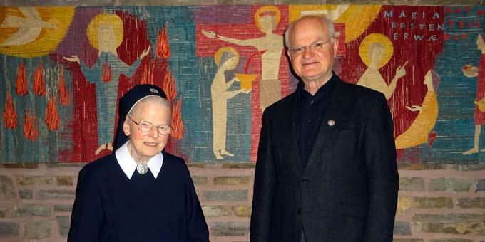 Schwester M. Adelrita konnte ihren Geburtstag zusammen mit ihrem Bruder, Pfr. Hermann Weiss, feiern (Foto: Sr. Maribirga, S-MS)