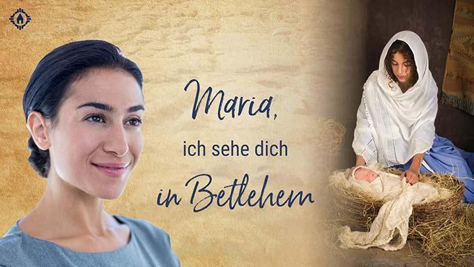 SonntagsGedanken im Mai: Maria in Bethlehem (Layout: www.zeitschrift-begegnung.de)